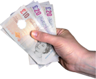 Hand Holding Money Notes