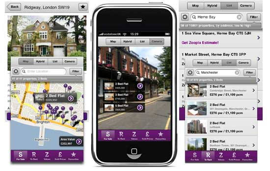 Zoopla app
