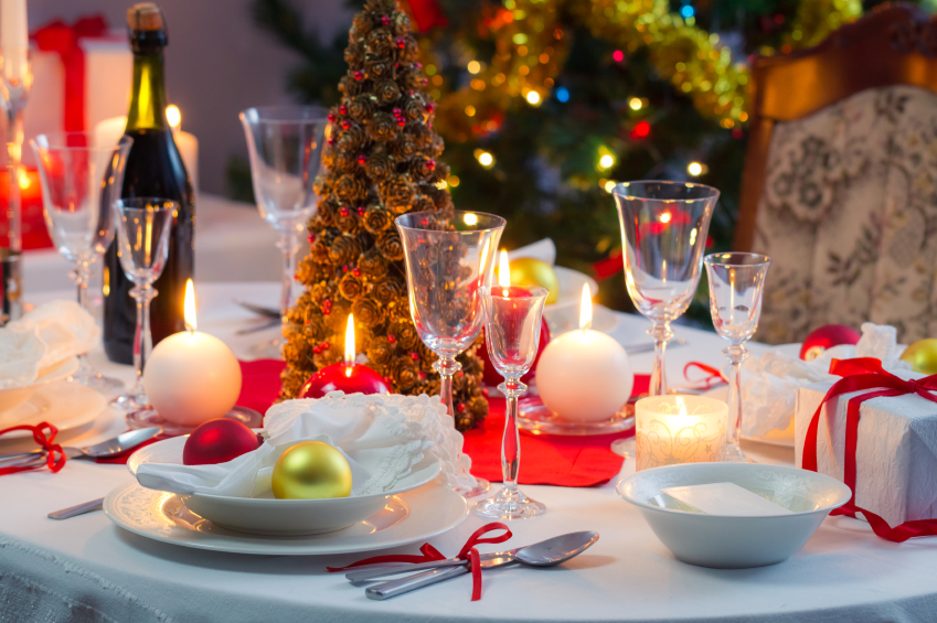 preparing for christmas eve at beautifully decorated table make your christmas sparkle
