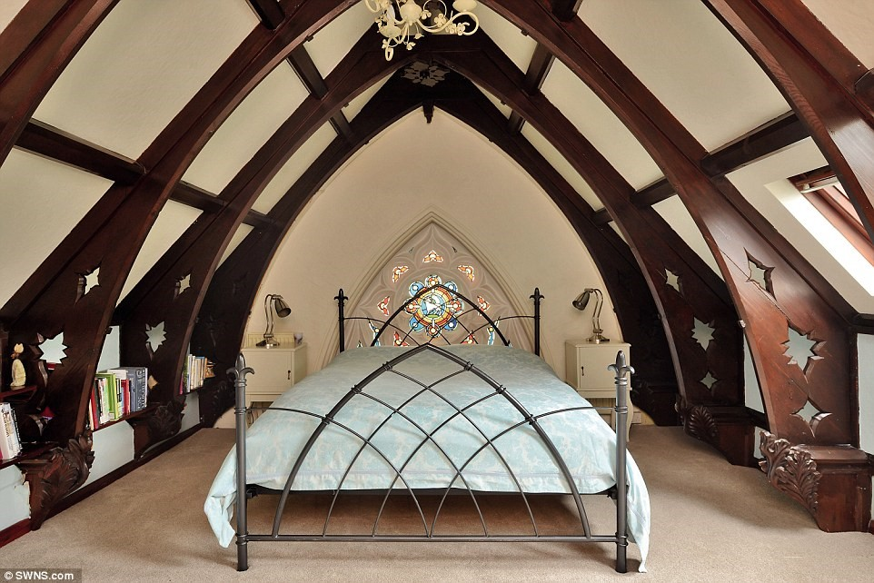Converted Church Bedroom