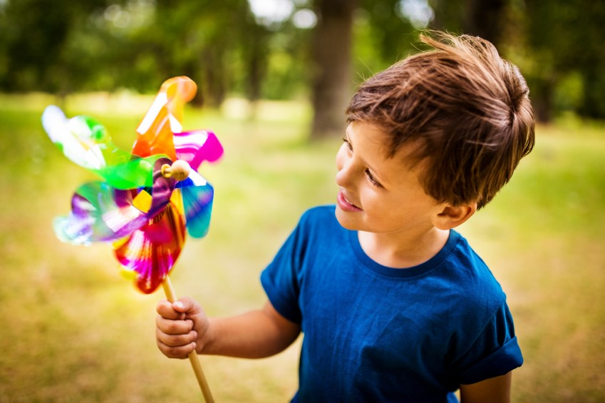 Child with windmill