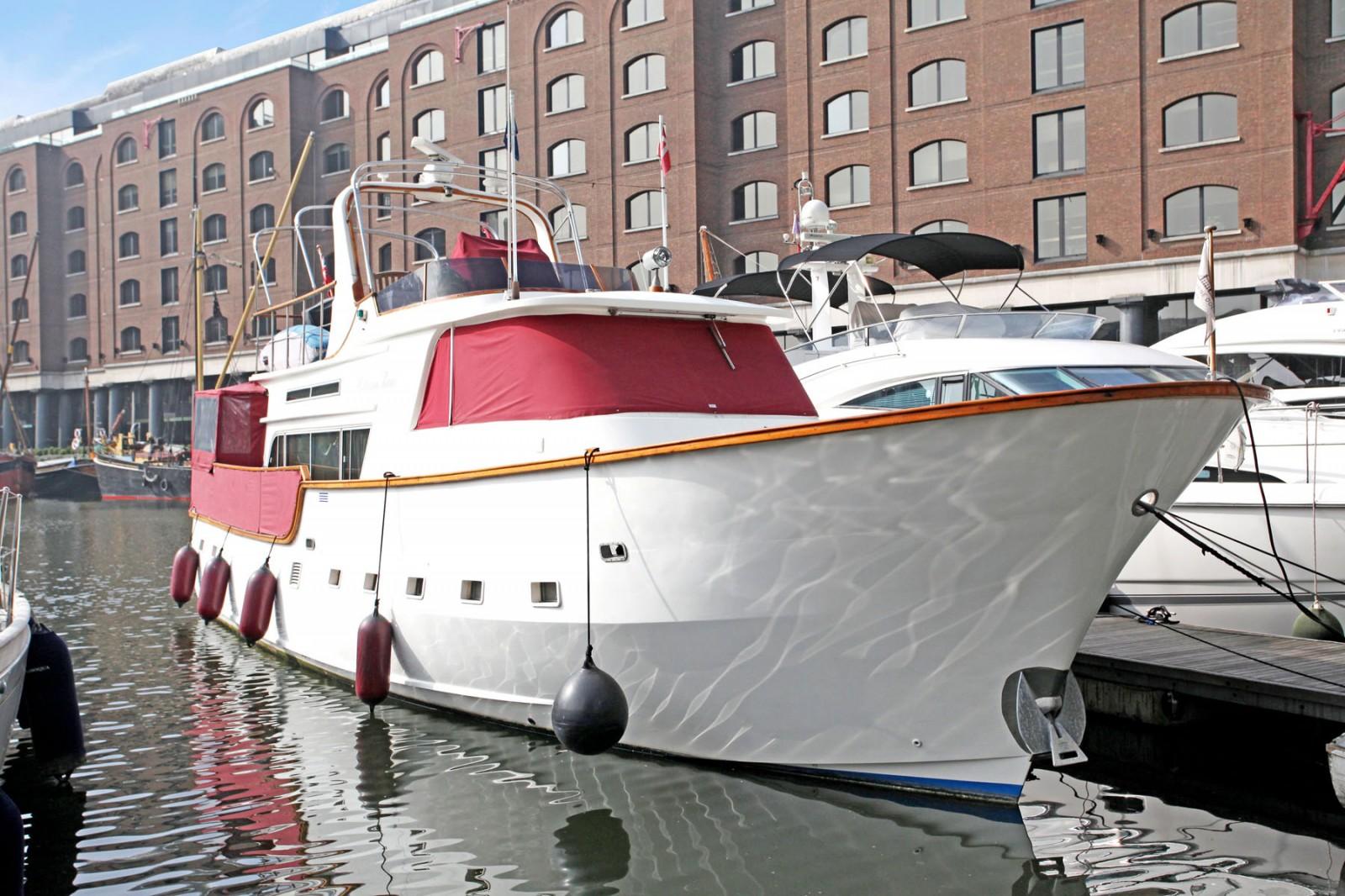 St Katharine dock yacht