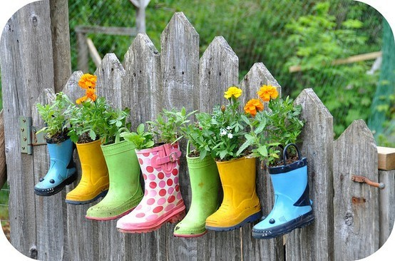 Wellies and flowers