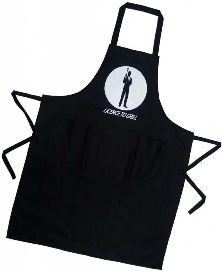 Licence to Grill James Bond 007 Novelty Apron amazon small