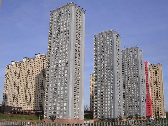 high-rise-flats-1960-uk-glasgow