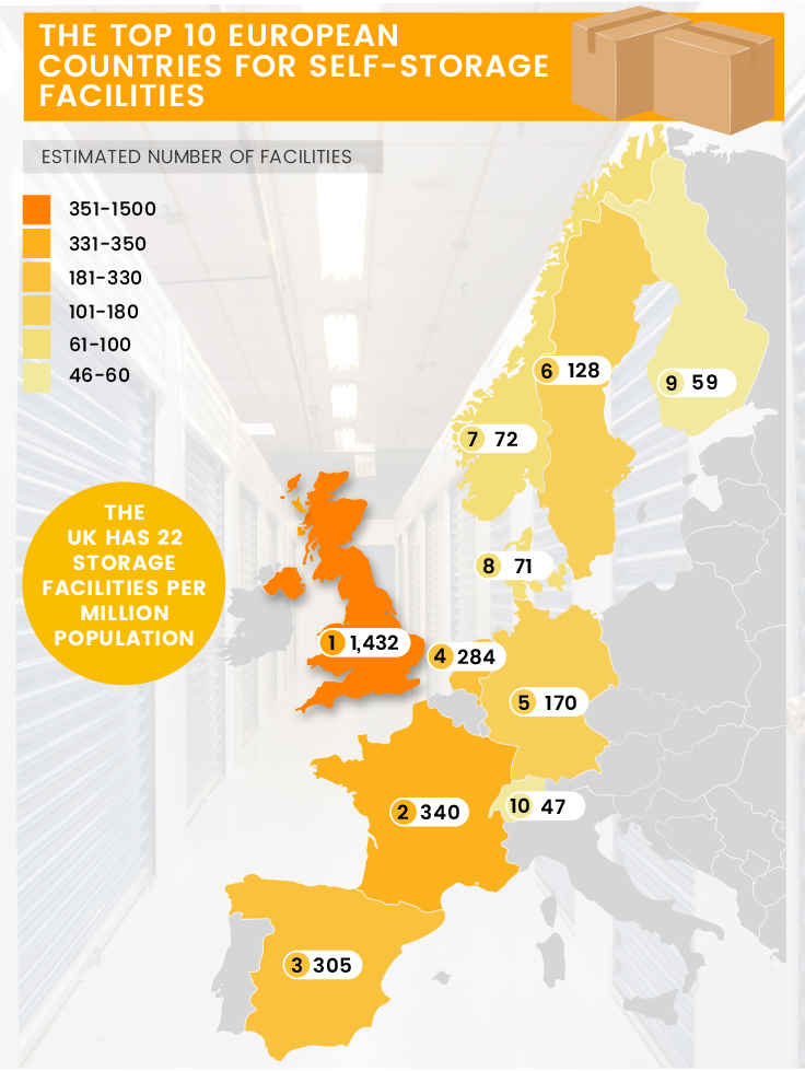 self-storage-across-europe-map