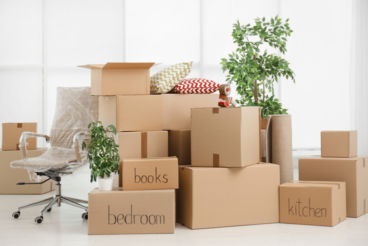 Image result for moving in to house + boxes